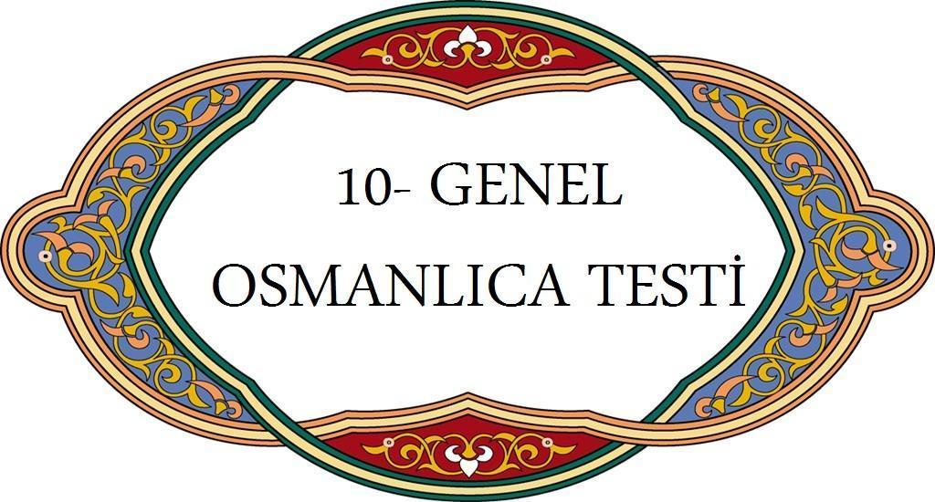 Osmanlıca Test