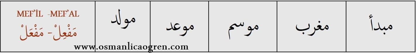 ismi zaman örnekleri